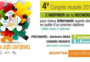 4e congrès sur la réussite scolaire du 7 au 9 novembre