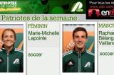Marie-Michelle Lapointe et Raphaël Bélanger Vaillancourt Patriotes de la semaine
