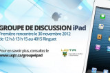 Participez au nouveau groupe de discussion iPad UQTR