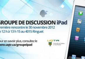 Participez au nouveau groupe de discussion iPad UQTR
