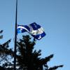 Le drapeau de l'UQTR en berne