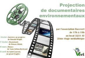 Diffusion de films et documentaires portant sur l'environnement à la bibliothèque