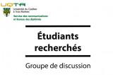 Groupe de discussion – Le Bureau des diplômés est à la recherche d'étudiants