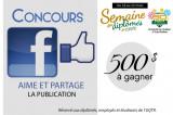 Concours Facebook «Aime et partage la publication»
