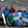 En classe de géographie au champ de glace Columbia