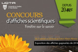 Exposition d'affiches scientifiques au salon Alexis-Klimov de la bibliothèque