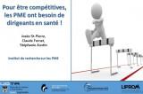 Pour être compétitives, les PME ont besoin de dirigeants en santé