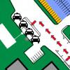 Déplacement des espaces pour taxi