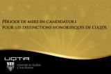 Période de mises en candidature pour les distinctions honorifiques de l'UQTR