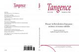 Un nouveau numéro de la revue Tangence