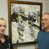 L'artiste Geneviève Dupont fait don d'une toile au Département d'anatomie