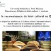 Le Département d'études en loisir, culture et tourisme dépose un mémoire au ministre de la Culture et des Communications du Québec