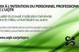 Appel de candidatures: Prix du personnel professionnel de l'UQTR