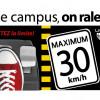 Campagne de sensibilisation sur la circulation sur le campus
