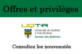 Bureau des diplômés de l'UQTR: Offres et promotions de mai!