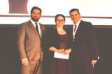 Gabrielle Thériault honorée lors des Grands prix de la relève du Gala de l'AQFORTH