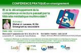 Conférence pour tous: Et si le développement de la compétence en lecture passait par la littératie médiatique multimodale?