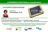 Conférence pour tous: Les dictées d'apprentissage