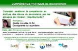 Conférence pour tous: Comment améliorer la compétence en écriture des élèves du secondaire par les groupes de révision rédactionnelle?