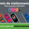 Permis de stationnement pour la session d'été 2018