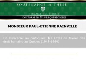 De l'universel au particulier: les luttes en faveur des droits humains au Québec (1945-1964)