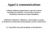 Appel à communication – Colloque étudiant organisé dans le cadre des activités du groupe de recherche