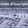 Permis de stationnement pour la session d'hiver 2019
