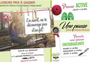 Prends une pause pour mieux réussir – Campus de Trois-Rivières