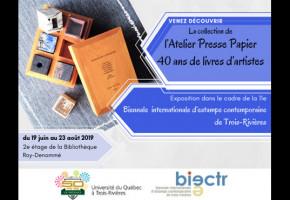 La 11e Biennale d'estampe contemporaine de Trois-Rivières présente l'exposition «40 ans de livres d'artistes»
