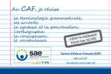 Avec le CAF, tu peux améliorer ton français écrit ou te préparer au TECFÉE!