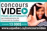 Concours vidéo pour les étudiants des établissements de l'Université du Québec