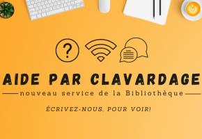 Aide par clavardage : un nouveau service d'aide à distance de la Bibliothèque!