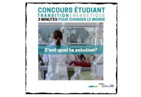Transition énergétique : concours étudiant de vulgarisation scientifique