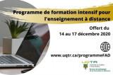 Programme de formation intensif pour l'enseignement à distance