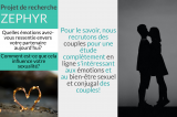 Projet Zephyr: Recrutement de couples pour une étude sur les émotions et le bien-être sexuel et conjugal