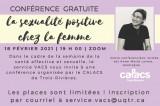Conférence : La sexualité positive chez la femme