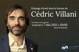 Échange virtuel dans le bureau de Cédric Villani