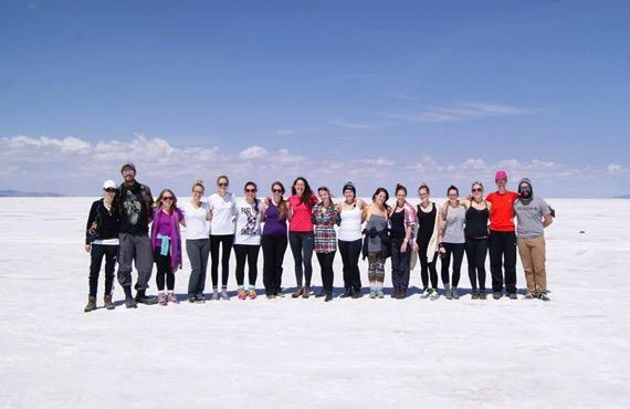 Les 17 étudiants au baccalauréat en sciences infirmières lors de leur stage en Bolivie.