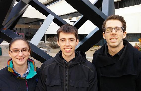 Alexandra Leclerc, Raphaël Poliquin et Simon Marcheterre. (Photo: Justin St-Georges)