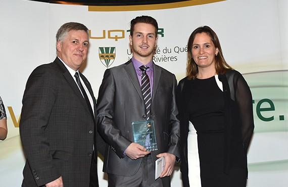 Recrue de l'année: Sébastien Auger, gardien de l'équipe de hockey