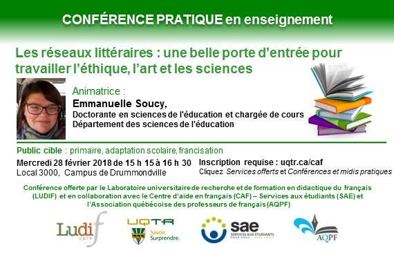Conference En Enseignement Les Reseaux Litteraires Une Belle Porte